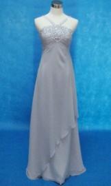 Elegant High Waist Chiffon Overlay Formal / Evening Dress with Stunning Beadworks (LB-F05)