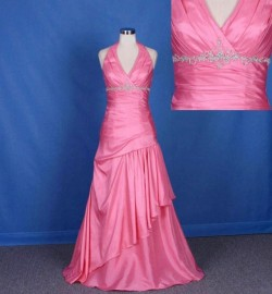 Gorgeous Halter Neck Formal / Evening Dress with Ruffle and Beadworks (LB-F13)