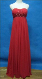 Elegant Empire Strapless Sweetheart Formal / Evening Dress with Beadworks (LBMB02)
