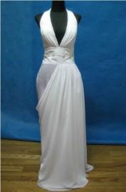 Elegant Sheath / Column Wedding Dress with Beadworks (LB-W11)