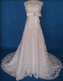 Elegant Sweetheart Quality Bead Lace A-Line Wedding Dress (LB-W12)