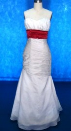Gorgeous Mermaid / Trumpet Strapless Sweetheart Wedding Dress with Colourful Sash (LB-W14)