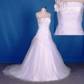 Charming Quality Strapless Wedding Dress with Ruffle (LB-W17)