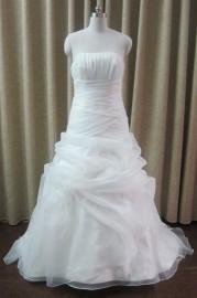 Elegant Mermaid / Trumpet Strapless Wedding Dress with Ruffle (LB-W21)