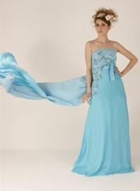 Glamorous Strapless Empire Formal Evening Dress (LB7070)