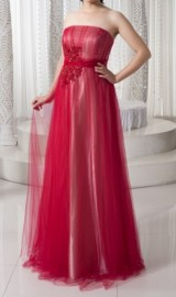 Modern Soft Tulle Overlay Two Tones Formal Dress (LBF-23)
