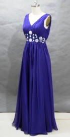 Elegant V-Neck Bridesmaid / Mother of the Bride / Formal Dress with Beautiful Beadworks (LBFSH0155)