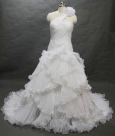Elegant Trumpet / Mermaid Wedding Dress with Ruffle (LBH2484)