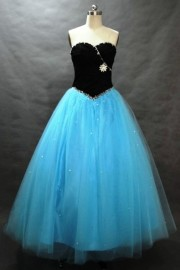 Charming Tulle Overlay Strapless Sweetheart Formal Dress with Beadworks (LBHSX312)