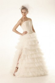 Modern Corset Style Wedding Dress with Beadworks (LBHYM-034)