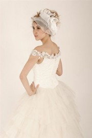 Modern Off Shoulder Bridal Gown with Stylish Layers (LBHYM-6006)