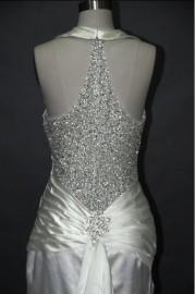 Sexy Halter Neck Wedding Dress with Stunning Beads (LBKS1001)