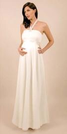 Elegant Halter-Neck Empire Maternity Wedding / Formal Dress (LBWSM0190)