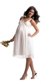 Gorgeous Maternity Wedding Dress with Beadworks Neckline (LBWSM0191)