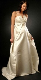 Charming Strapless Empire Maternity Wedding Formal Dress (LBWSM0196)