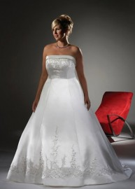 Elegant Strapless Wedding Dress with Stunning Beadworks (LBX085)