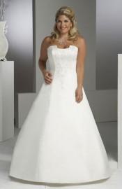 Gorgeous A-Line Strapless Wedding Dress with Beadworks (LBX086)