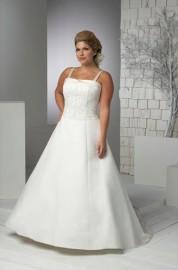 Charming A-Line Wedding Dress with Beautiful Beadworks (LBX090)